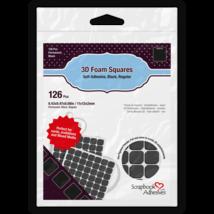 """Black Foam Squares.  0.43"""" Square"""