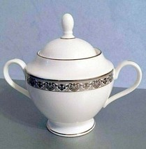 Gorham Grand Gallery Covered Sugar Bowl Platinum Trim 1st quality New - $79.90