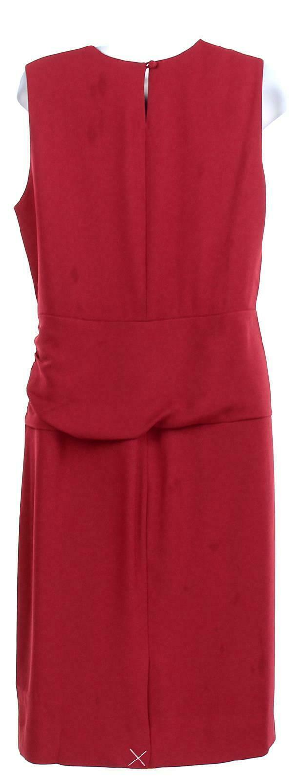 J Crew Women's High Neck Sheath Dress Everyday Lucky Crepe Wear to Work 8 J7452 image 4