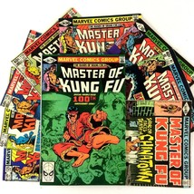 Shang-Chi Master of Kung Fu Comic Book Lot 9 Issues Marvel Bronze Age #100 #125 - $19.75