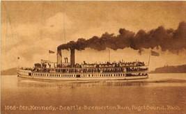 Steamer Kennedy Seattle Bremerton Run Puget Sound Washington 1910c postcard - $6.93