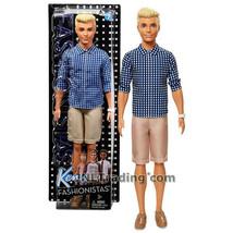 "NEW 2016 Barbie Fashionistas 12"" Doll #7 Caucasian KEN FNH39 Blue Check ... - $24.99"