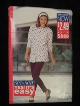 1991 See & Sew Butterick 5889 PATTERN Top Pants Size A 6-14 - $7.69