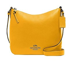 Coach Pebbled Leather Ellie File Bag, Ochre Purse Handbag - $249.00