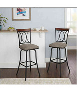 New Microfiber 360 Swivel 29-Inch Bar Stools (Set of 2) - $158.39