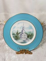 Vintage AVON Christmas Plate Series COUNTRY CHURCH 2nd Edition 1974 WEDGWOOD image 4