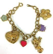 Disney Signed Minnie Mouse Best Friends Gold Tone Metal Charm Bracelet - $15.47
