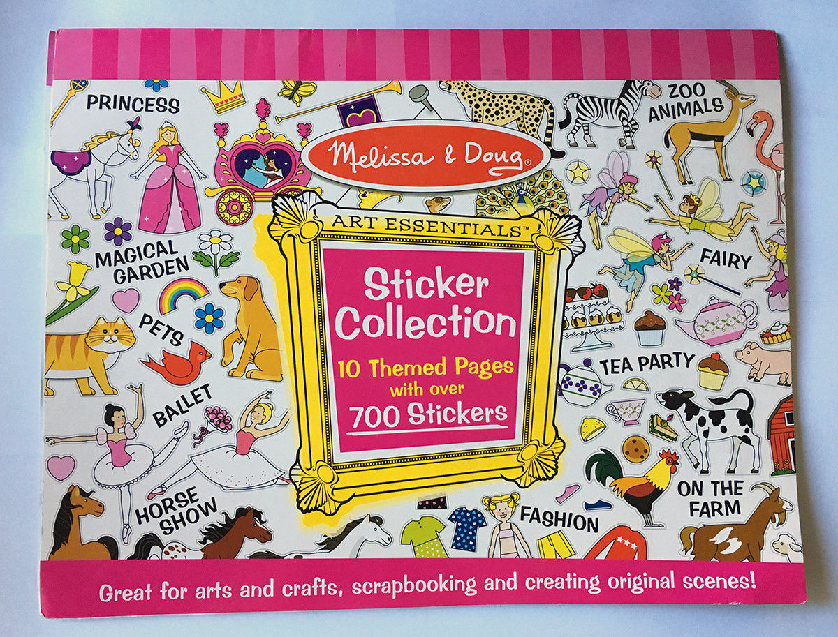Primary image for Melissa & Doug Sticker Collection Pink 4247 10 Themed Pages • Over 700 Stickers