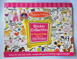 Melissa & Doug Sticker Collection Pink 4247 10 Themed Pages • Over 700 S... - $9.85