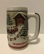 Anheuser Busch BUDWEISER Limited Edition Holiday Clydesdale Beer Stein Mug  - $19.79