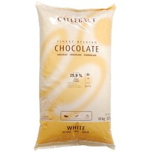Belgian White Chocolate Baking Callets (Chips) - 2 x 22 lb bags - $391.19