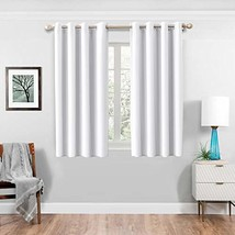 HARBOREST Bedroom Grommet Curtain Panels - 3 Thick (52 x 63 inch|Greyish... - $30.40