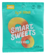 Smartsweets Peach Rings Gummy Candy, 1.8 oz Bag Case of 12 soft chew gum... - $40.99