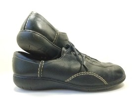 Clark's Fashion Sneakers Women's Sz 9.5M Black Leather Shoes (sb7) - $20.24