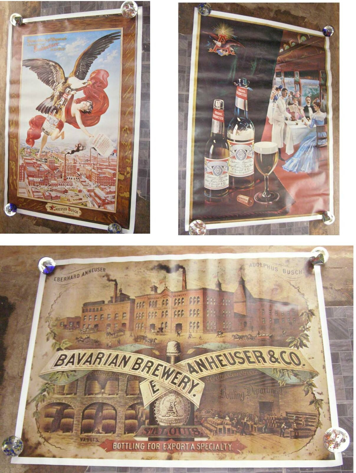 Primary image for Budweiser Poster Lot Anheuser Busch ST Louis Mo 3 posters