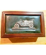 VINTAGE MEN'S WOODEN JEWELRY BOX FORD MODEL T INLAY W/AM RADIO - $24.70