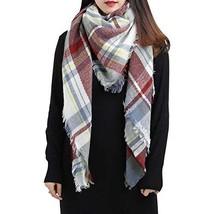 Spring Fever Large Tartan Plaid Cashmere Feel Soft Cozy Warm Lightweight Blanket
