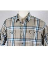 Lee Dungarees Mens Short Sleeve Plaid Shirt Size Large - $13.85