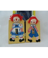 Raggedy Ann & Andy Vintage Nursery Hand painted Wooden Light SwitchPlate... - $15.83