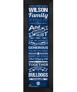 "Personalized Butler University Bulldogs ""Family Cheer"" 24 x 8 Framed Print - $39.95"