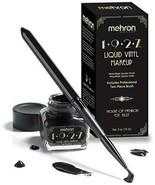 Mehron Liquid Black Vinyl Makeup Jet Black Paintable Liquid Makeup - $21.73
