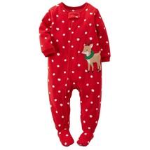 Carter's Little Girls' 1-piece Fleece Christmas Pjs 5, Red Reindeer Item RB-13 - $18.46