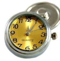 Real Working Watch Gold 18mm Snap Button Charm Jewelry For Ginger Snaps - $7.79