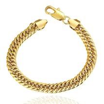 10K Yellow Gold Cuban Link Bracelet Long Rope,Franco, - $14.69