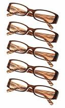 5-Pack Ladies Reading Glasses Brown Stripe,+3.50 - $16.04
