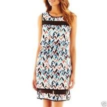 Bisou Bisou Zigzag Print Dress Size 8 New With Tags - $17.99