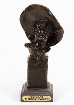 """""""The Sergeant"""" Solid Bronze Handmade Sculpture By Frederic Remington 11"""" Inches  - $230.30"""