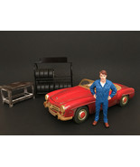 Mechanic John Inspecting Figure For 1:24 Scale Models by American Diorama - $15.82
