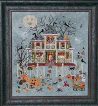 Mummy's Moonlight Cafe halloween cross stitch chart Praiseworthy Stitches - $12.60