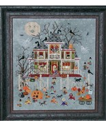 Mummy's Moonlight Cafe halloween cross stitch chart Praiseworthy Stitches - $12.60