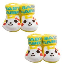 YELLOW Cotton Baby Newborn Shocks Infant Anti Skid Slip Toddler Shoes 2 Pack