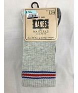 Hanes Knitting Company Boys Crew Socks 4 Pair  Shoe Size L 3-9 - $5.90