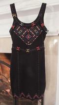 Free People Black Embellished Mini Dress Sz M Retail $148.00 - $30.69