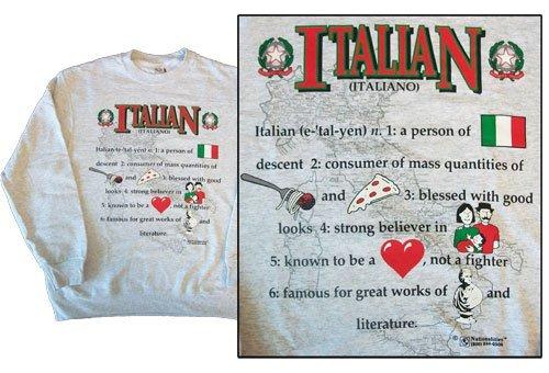 Italy national definition sweatshirt 10258