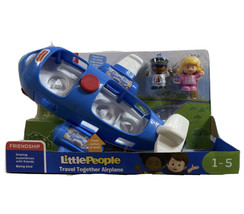 Fisher Price Little People Travel Together Airplane Set Pilot Emma DJB53... - $23.67