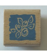 "Foliage Rubber Stamp Wood Mounted 1 1/2"" x 1 1/2"" - $2.89"