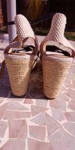 Brand NEW heel NEW beige Lucky size sandal women MAHIMA wedge 8 5 black 5q4Azxwq