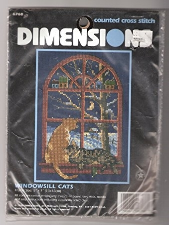 Primary image for Dimensions Windowsill Cats Counted Cross Stitch Kit