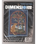 Dimensions Windowsill Cats Counted Cross Stitch Kit - $45.99