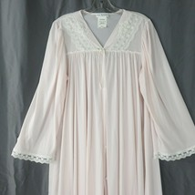 Vintage Miss Elaine Pink Robe House Dress Loungewear Size L USA New Old ... - $79.15