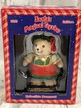 Santas Magical Toyshop Girl BEAR ORNAMENT 1995 Edition Collectible - $4.80