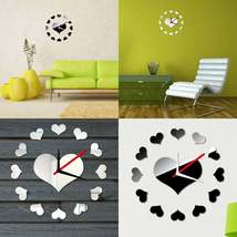 mirror clock in heart shapes, boxed ideal gift image 3