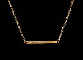 5 pieces of one bar golden necklaces(XL010A) - $15.50