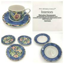 PTS International Interiors Fantasia Bowls Salad Plates Cup Saucer Stone... - $14.95+