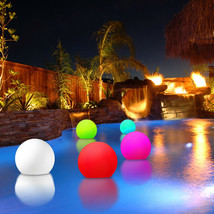 New! Led Floating Color Sphere - Pool Float Light Show Ball - Mood Glowing Orb - $64.92