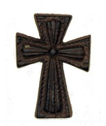CAST IRON Small Nail Cross Rust Color Western & Home Decor Crafts - $4.94